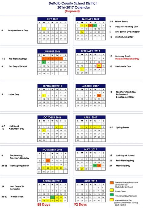Davis County School District Calendar Davis School District Calendar 2017 2016 Calendar 2017