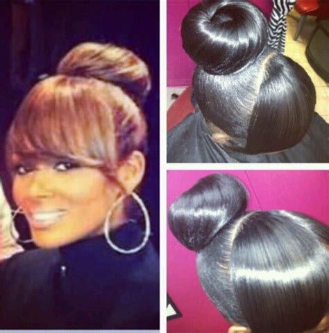 evelyn lozada bun with bangs bun with bangs soooo cute natural hair style