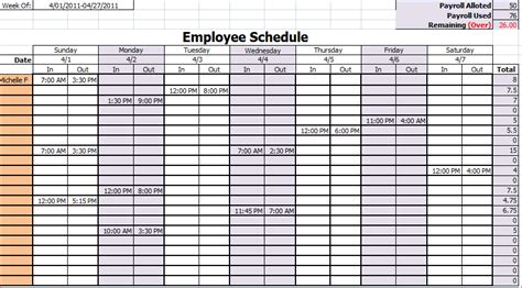 10 monthly work schedule template memo formats