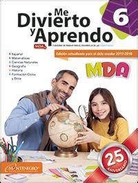 guia mda 6 grado contestada 2017 montenegro editores tiendas