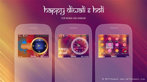 themes for huawei c3 happy diwali holi theme s40 320x240 asha 200 themes