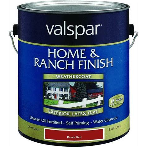 How Many Gallons Of Paint For A Bedroom by Gallon Flat Home Ranch Barn Paint By Valspar