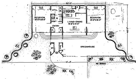 earth contact homes floor plans house plan 26600 at familyhomeplans com