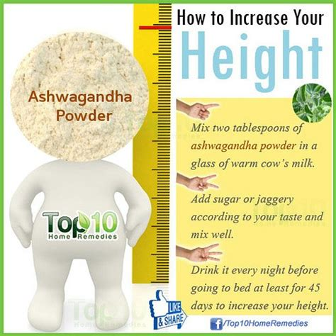 ashwagandha before bed how to increase your height top 10 home remedies