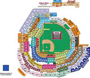 stadium seat map busch stadium seating map mlb
