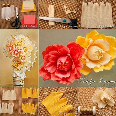 How To Make A Bouquet Of Flowers With Paper - how to make chocolate flower bouquet for wedding fab diy