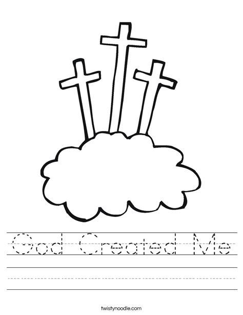 God Made Me Worksheet by God Created Me Worksheet Twisty Noodle