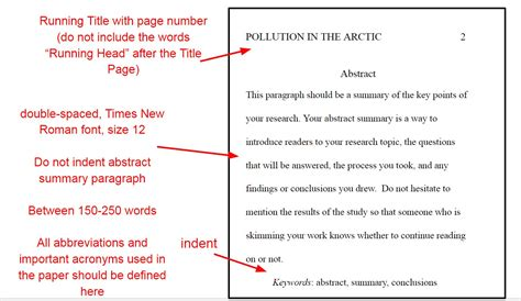 thesis abstract format apa apa formatting rules for your paper