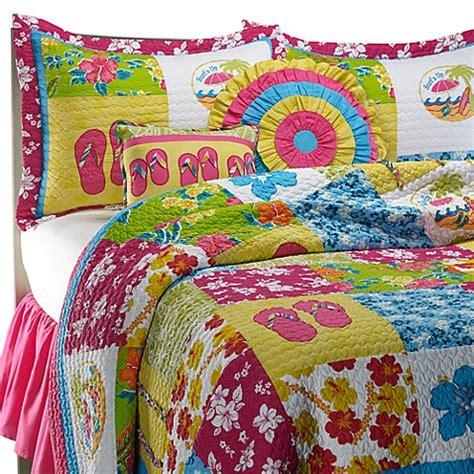 flip flop comforter surf girl quilt set 100 cotton bed bath beyond