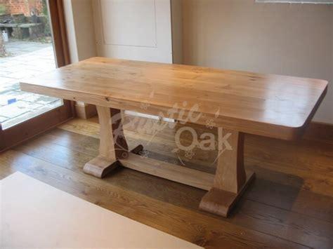 rustic oak seasoned oak dining table