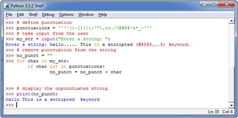 Python Tutorial Javatpoint | python remove punctuation from string javatpoint