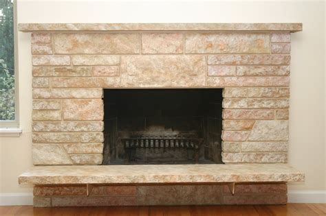 how to stone a fireplace remodelaholic restoring a painted stone fireplace