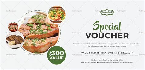 Modern Food Voucher Design Template In Word Psd Pages Publisher Best Food Templates