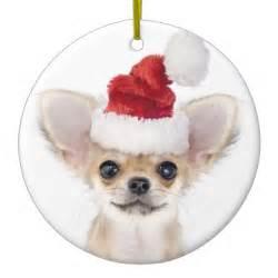 christmas chihuahua puppy ornaments