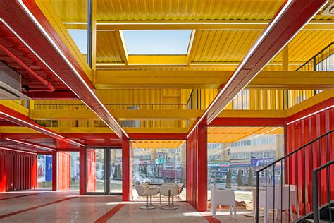 container store deutschland shipping container pavilon by s architecture office