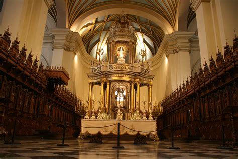 What Is Of Interior by File Interior Of The Cathedral Of Lima 3833830201 Jpg