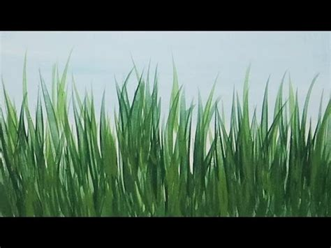 watercolor grass tutorial how to paint realistic grass with acrylic paint lesson 4