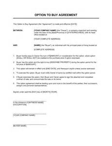 Agreement Letter Buying House Option To Buy Agreement Template Sle Form Biztree
