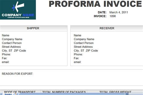 proforma invoice template excel pro forma invoice proforma invoice proforma sle