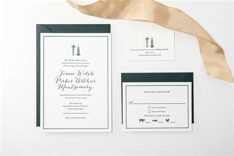 Wedding Invitations Seattle by New York To Seattle Wedding Invitations Pike Press