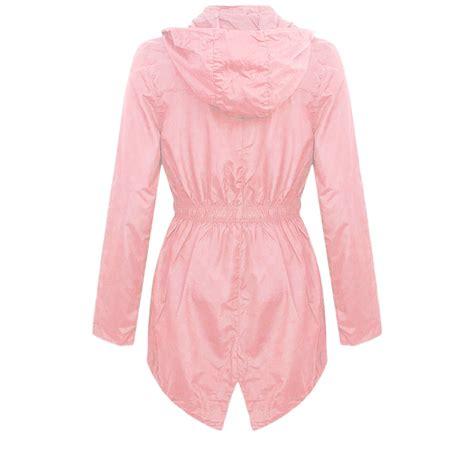 light pink plus size blazer new womens plus size light showerproof rain jacket hooded mac
