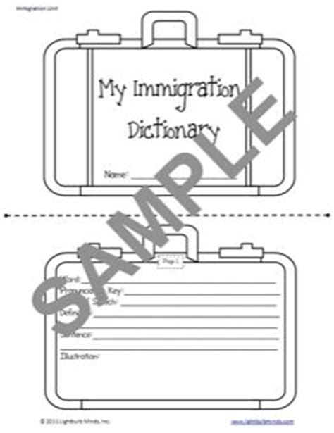 sle of immigrant card ellis island template 17 best images about 2nd grade reading immigration on