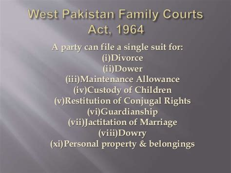 divorce according to west pakistan family courts act 1964