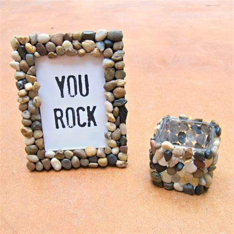 tutorial rock accented home decor 187 dollar store crafts