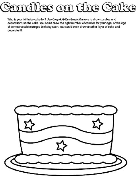 coloring happy birthday cakes candles pages birthday cake coloring page crayola com