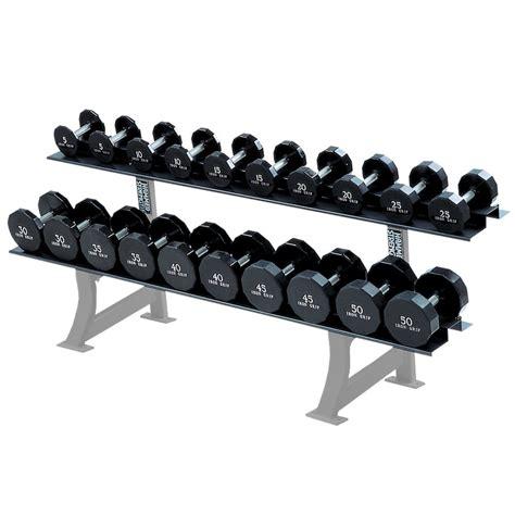 Dumbbell Fitness hammer strength two tier dumbbell rack fitness strength equipment
