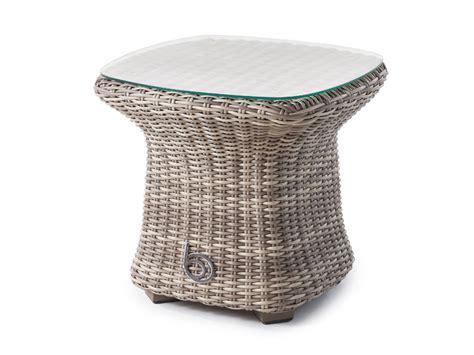 small glass top outdoor table sandbanks small glass top garden rattan side table