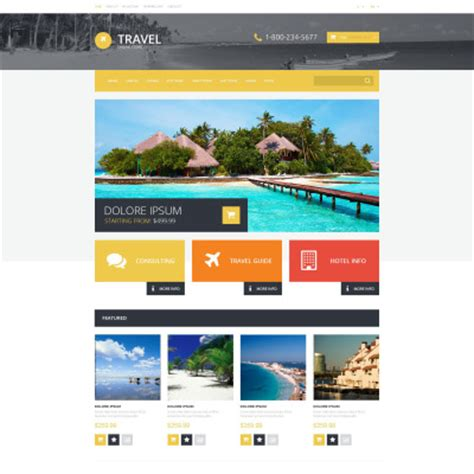 templates bootstrap agency opencart travel themes