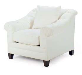a white cotton canvas upholstered club chair by ralph