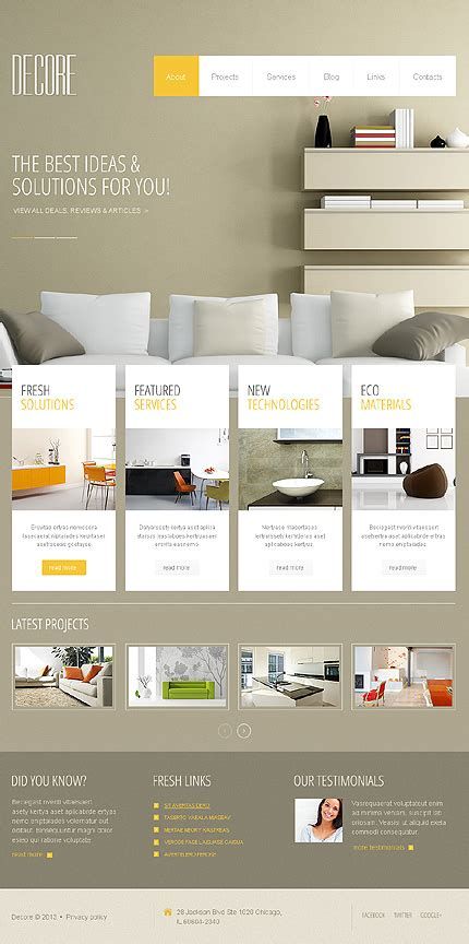 40 Attractive Interior Design Wordpress Themes Interior Website Templates