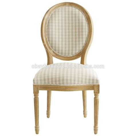 provincial oval back louis dining chair made in china