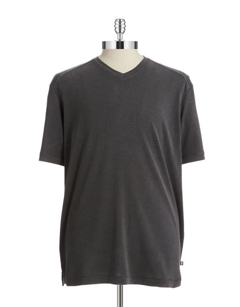 V Neck Textured Shirt lyst bahama textured v neck t shirt in black for