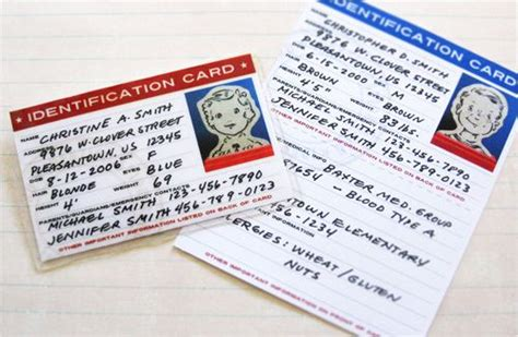 printable homeschool id cards free printable pdf to make your own child id cards great
