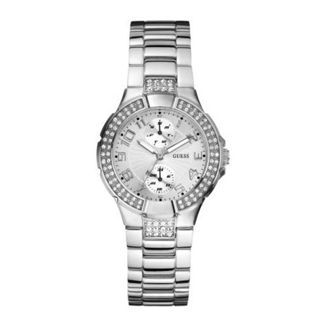 Guess Date Mini Rantai Silver White guess stainless steel w12638l1 wrappings