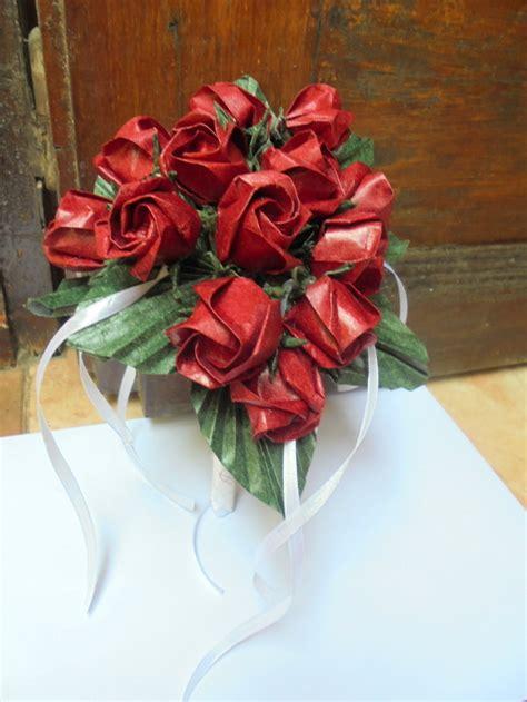 ramos de rosas para san valentin bouquet o ramo de rosas de papel para boda san