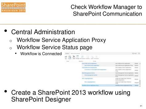 workflow services sharepoint 2013 spca2013 windows workflow manager for the it pro