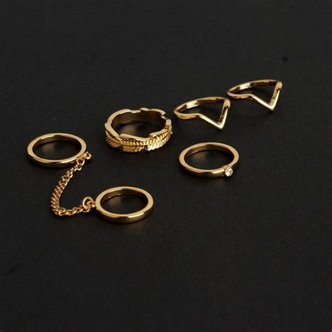 Kalung Kalung Pesta Water Drop Kn00614 cincin fashion 6 set golden jakartanotebook