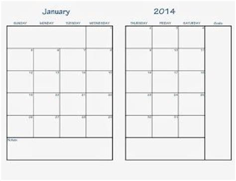 free printable calendar planner 2014 4 best images of free printable 2014 monthly planner pages