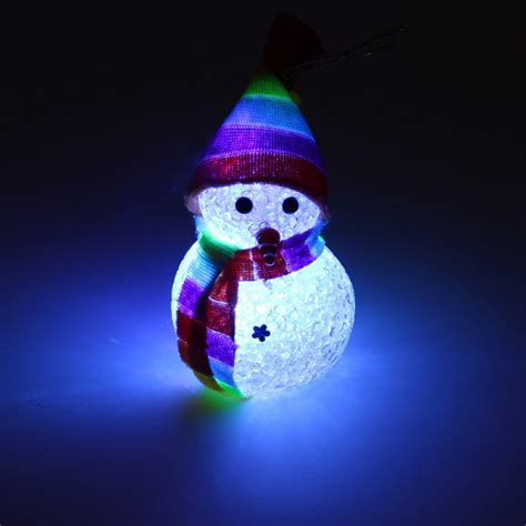 Buy Crystal Christmas Snowman Colorful Small Night Light
