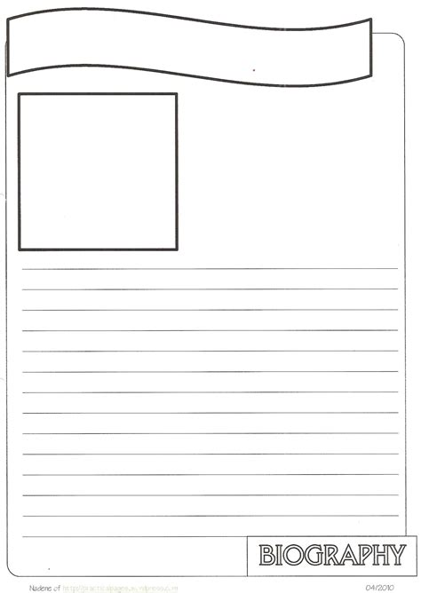 pages templates for students new biography notebook page templates practical pages