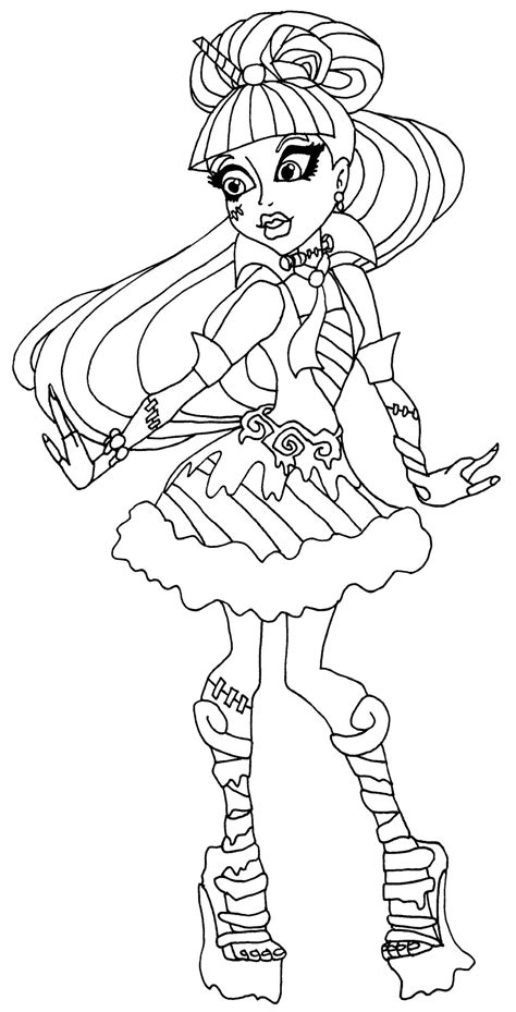 Monster High Dracubecca Coloring Pages | dibujos para pintar de draculaura