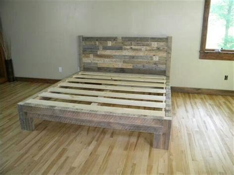 recycled wood bed frames 1000 ideas about wood bed frames on rustic