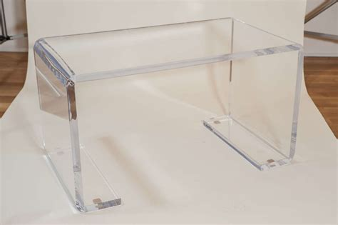 cocktail table with 4 benches lucite bench cocktail table at 1stdibs