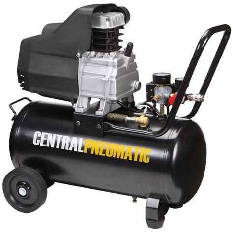 central pneumatic  gal  hp  psi oil lube air compressor kx real deals tools  bid