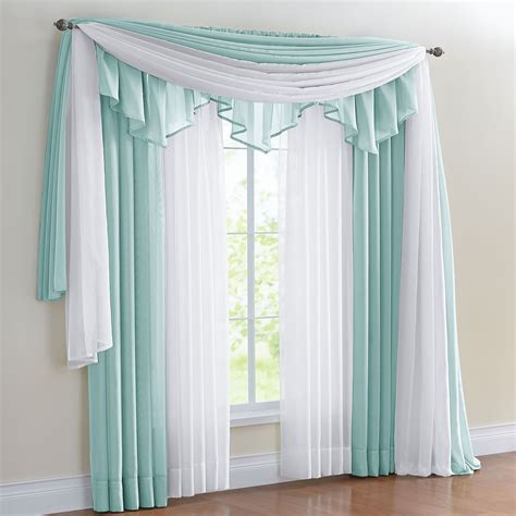 sheer curtain scarf ideas brylanehome 174 studio sheer voile rod pocket panels scarf