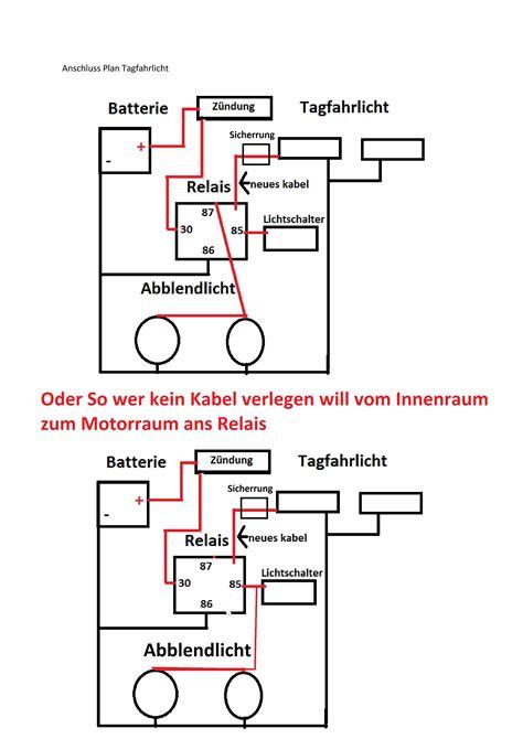 Schaltung Tagfahrlicht Motorrad by Schaltplan Tagfahrlicht Tagfahrlicht Relais Eigenbau Mit